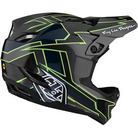 Troy Lee Designs D4 Carbon Helm graph grey/green